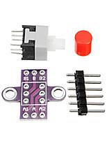 cheap -Switch Kit Self Locking Switch with Lock Key DIY Arduino
