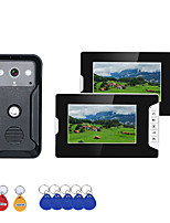 Недорогие -7-дюймовый 2-дюймовый видеодомофон домофон RFID-система с HD дверной звонок 1000TVL камеры
