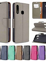 cheap -Case For Samsung Galaxy S20 / Galaxy S20 Plus / Galaxy S20 Ultra Wallet / Card Holder / with Stand Full Body Cases Litchi Pattern PU Leather / TPU for Galaxy A51 / A71 / A70E / A41 / A11 / A01 / A21
