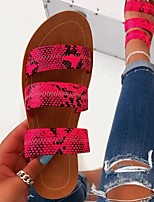 cheap -Women's Sandals / Slippers & Flip-Flops Flat Sandal Summer Flat Heel Open Toe Daily PU Black / Fuchsia / Green