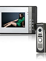 cheap -7 Inch Wire Vidoe Door phone Home Security Intercom System Unlock P802M11