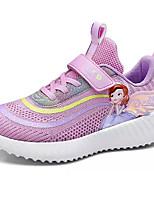 Недорогие -Девочки Удобная обувь Трикотаж / Эластичная ткань Спортивная обувь Большие дети (7 лет +) Беговая обувь Лиловый / Розовый / Синий Весна