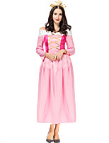 cheap -Princess Sleeping beauty Aurora Dress Cosplay Costume Women's Movie Cosplay A-Line Slip Halloween Pink Dress Halloween Carnival Masquerade Satin / Tulle