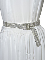 cheap -Metalic Wedding / Party / Evening Sash With Belt / Crystals / Rhinestones Women's Sashes
