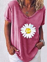 cheap -Women's Graphic Daisy Print T-shirt Daily White / Black / Blue / Army Green / Fuchsia / Gray