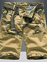 """cheap -Men's Hiking Shorts Hiking Cargo Shorts Camo Summer Outdoor 10"""" Loose Breathable Quick Dry Sweat-wicking Comfortable Cotton Shorts Bottoms Camping / Hiking Hunting Fishing Army Green Grey Khaki 28 29"""