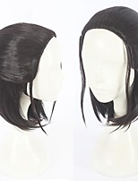 cheap -Cosplay Wig Rey Star Wars: The Last Jedi kinky Straight Asymmetrical Wig Short Black Synthetic Hair 14 inch Men's Anime Cosplay Exquisite Black