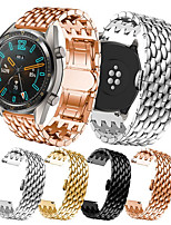 cheap -Dragon Grain Stainless Steel Strap 22mm Chain Butterfly Buckle Steel Strip For Huami Amazfit GTR 47mm / Huami Amazfit Pace Watch / Huami Amazfit Stratos Smart Watch 2/2S Smart Watch Replacement Watch