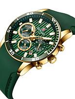 cheap -REWARD Men's Sport Watch Quartz Sporty Silicone Black / Blue / Green 30 m Water Resistant / Waterproof Calendar / date / day Chronograph Analog Casual Fashion - Black / Silver Green Blue One Year