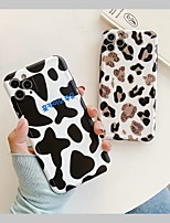 cheap -Case For APPLE iPhone 7 8 7plus 8plus XR XS XSMAX X SE 11 11Pro 11ProMax  Pattern Back Cover TPU leopard cow print Word