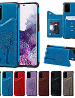 cheap -Case For Samsung Galaxy S20 / S20 Plus / S20 Ultra Wallet / Card Holder / with Stand Back Cover Cat and Tree Embossing PU Leather / TPU for Galaxy S10 / S10E / S10 Plus / A50(2019) / A30S(2019)