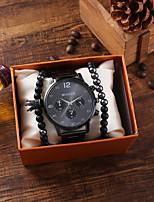 cheap -Men's Sport Watch Quartz Stainless Steel Black / Silver Chronograph New Design Casual Watch Analog Classic Fashion - Silver Black