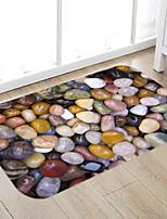 Недорогие -Цветная печать камня высокого качества пены памяти коврик для ванной и коврик для ванной нескользящий абсорбент супер удобный фланель коврик для ванной коврик-кровать
