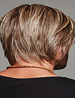 cheap -Synthetic Wig kinky Straight Pixie Cut Wig Short Light Brown Synthetic Hair 12 inch Men's Classic Easy dressing Cool Light Brown