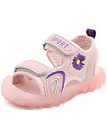 cheap -Boys' / Girls' Comfort PU Sandals Toddler(9m-4ys) / Little Kids(4-7ys) Walking Shoes Flower Pink / Green Summer / Fall / Slogan