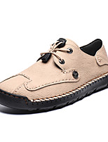 cheap -Men's Spring & Summer Classic / British Daily Outdoor Oxfords Walking Shoes Leather / Nappa Leather Breathable Wear Proof Camel / Khaki / Black