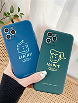 cheap -Case For Apple iPhone 11 / iPhone 11 Pro / iPhone 11 Pro Max Shockproof / Dustproof / Pattern Back Cover Playing with Apple Logo / Solid Colored / Cartoon Silica Gel iPhone  6/7/8/678plus/XS/XR/XS MAX