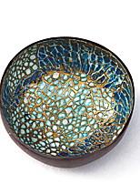 Недорогие -Красочные павлин кокосовой раковины чаши блюда ручной работы ремесло краски искусства закуски салатница d13.5xh5.7 см