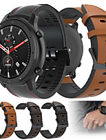 cheap -Leather Silicone Watch Band Wrist Strap For Huami Amazfit GTR 47mm / Amazfit Stratos 3 / Stratos 2 2S / Amazfit Pace Watch Replaceable Bracelet Wristband