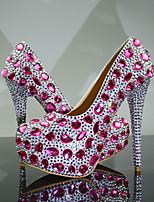 cheap -Women's Heels 2020 Fall & Winter Stiletto Heel Round Toe Wedding Party & Evening Rhinestone PU Pink