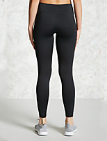 cheap -Women's Yoga Basic Legging - Solid Colored Mid Waist Black S M L