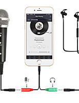 Недорогие -запись конденсаторный микрофон мобильный телефон микрофон 3,5 мм разъем для микрофона для компьютера пк караоке микрофон для iphone android