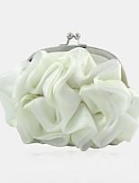 Недорогие -Жен. / Девочки Цветы Шелк Вечерняя сумочка Сплошной цвет Белый