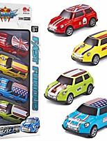 Недорогие -Игрушечные машинки Инерционная машинка мини Грузовик Мультфильм игрушки Цветной Металл Мини-автомобиль Транспортные средства Игрушки для вечеринки или подарок на день рождения для детей Random Colors