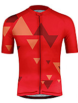cheap -21Grams Men's Short Sleeve Cycling Jersey Polyester Yellow Red Bike Jersey Top Mountain Bike MTB Road Bike Cycling UV Resistant Breathable Quick Dry Sports Clothing Apparel / Stretchy / Race Fit