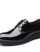 cheap -Men's Fall Casual / British Daily Party & Evening Oxfords Leather Breathable Non-slipping Wear Proof Black