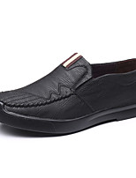 cheap -Men's Fall Casual / British Daily Party & Evening Loafers & Slip-Ons Leather Breathable Non-slipping Wear Proof Black / Brown