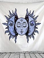 Недорогие -белое чёрное солнце луна мандала гобелен гобелен небесный гобелен гобелен хиппи гобелен декор общежитие психоделический гобелен