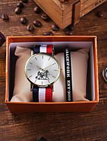 cheap -Men's Sport Watch Quartz Animal Pattern Nylon Chronograph Cute New Design Analog Classic Fashion - Red