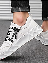 cheap -Men's Spring & Summer Casual Daily Sneakers Canvas White / Black / Orange