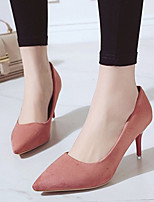cheap -Women's Heels Spring / Summer Pumps Pointed Toe Daily Suede Black / Yellow / Red
