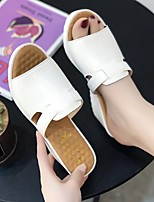 cheap -Women's Sandals Wedge Sandals 2020 Spring &  Fall / Spring & Summer Wedge Heel Open Toe Casual Minimalism Daily Party & Evening PU White / Black / Blue