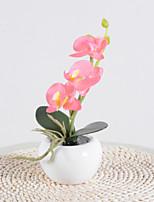 Недорогие -brelong® 4 шт искусственная розовая орхидея в керамической вазе ночной свет украшения дома элегантный дизайн на батарейках