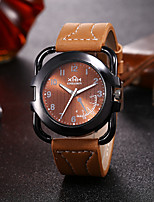 cheap -Men's Sport Watch Quartz PU Leather Black / Brown Chronograph New Design Casual Watch Analog Fashion Cool - Blue Brown Black