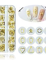 cheap -1 Box Japanese Nail Alloy Hollow Rivets Nail Art Decorations 3D Multi-Design Star Heart Rivet DIY Manicure Tools Nail Decor Charms