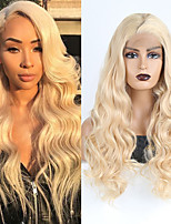 cheap -Synthetic Lace Front Wig Wavy Side Part Lace Front Wig Blonde Long Blonde Synthetic Hair 18-26 inch Women's Cosplay Soft Adjustable Blonde