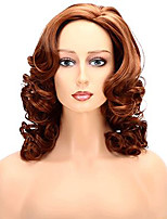 cheap -Synthetic Wig Body Wave Middle Part Wig Medium Length Brown / Burgundy Synthetic Hair 12 inch Women's Party Women Brown