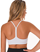 cheap -Women's Sports Bra Light Support Removable Pad Wireless Fashion White Black Army Green Pink Gray Yoga Running Fitness Top Sport Activewear Breathable Comfort Quick Dry Freedom Stretchy