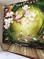 Недорогие -природа гобелен дерево лес звездное небо психоделический гобелен стена ткань гобелен палатка хиппи дерево мандала тапиз пейзаж
