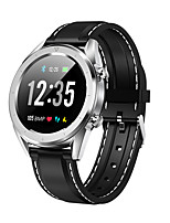 cheap -DT NO.1 DT28 Unisex Smartwatch Android iOS Bluetooth Waterproof GPS Heart Rate Monitor Blood Pressure Measurement Calories Burned ECG+PPG Timer Pedometer Sedentary Reminder Temperature Display