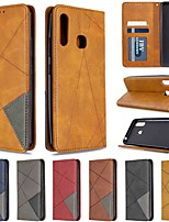 cheap -Case For Samsung Galaxy S20 / Galaxy S20 Plus / Galaxy S20 Ultra Wallet / Card Holder / with Stand Dark Magnetic Diamond PU Leather / TPU for Galaxy A51 / A71 / A70E / A41 / A11 / A01 / A21
