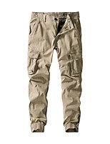 cheap -Men's Hiking Pants Hiking Cargo Pants Summer Outdoor Loose Breathable Quick Dry Soft Sweat-wicking Cotton Pants / Trousers Bottoms Running Camping / Hiking Hunting Black Army Green Khaki 29 30 31 32