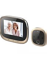 Недорогие -4,3-дюймовый HD-камера умный кошачий глаз дверной звонок камера со встроенным аккумулятором ночного видения обнаружения движения