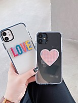cheap -Case For Apple iPhone 11 / iPhone 11 Pro / iPhone 11 Pro Max Shockproof Back Cover Word / Phrase / Heart TPU