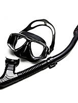 Недорогие -Наборы для снорклинга - Маска для ныряния шноркель - подводный С защитой от протекания Противо-туманное покрытие Для погружения с трубкой Силикон Для Взрослые