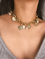 cheap -Women's Statement Necklace Chrome Gold Silver 50 cm Necklace Jewelry For Daily